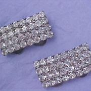 Mid Century - Pave` Diamante MUSI Trademarked SHOE CLIPS - Pat. 3460211 - 1968-69