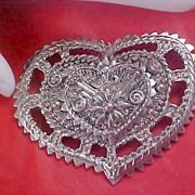 Massive HEART Premier Designs Silver plate Open Design Pendant/Brooch