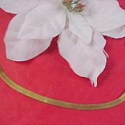 Charming Gold tone MESH BRACELET Signed DM