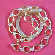 ART DECO Diamante Open Design Dress Clip