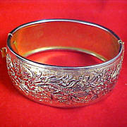 TAILLE d'EPERGNE Gold Plate   Wide Cuff Bangle Bracelet