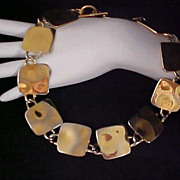 Showstopper ANNE KLEIN ~ Gold Plate Ornate Polished Discs NECKLACE