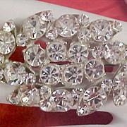 ART DECO ~ Marquis & Round Cut Diamante  Brooch