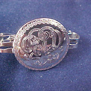 Silver Plate Engraved~Scarf Holder
