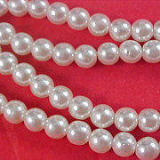 Simulated Pearl Double  Row Bracelet