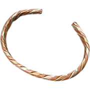 COPPER & BRASS open Braided  Bangle ~ 25.5 Grams