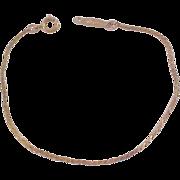 NAPIER ~ Herringbone 14KT Gold Plate Bracelet~Dainty & Pristine