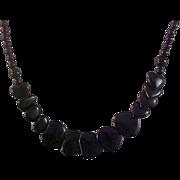 Black HEART VALENTINE Graduated Beads Necklace