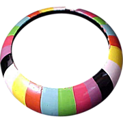 Hand Painted Wooden  All Seasons COLORFUL Bangle