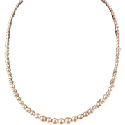 Fabulous Fifties  Graduated String of GLASS PEARLS Necklace ~ Pat.