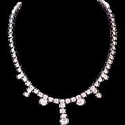 Showstopper~ SWAROVSKI Crystal Drop Chaton KRAMER T/M Necklace