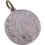 Latin inscribed Miraculous Mary~Pope Benedict ~ v s . x v Religious Medal Carry Purse or Car