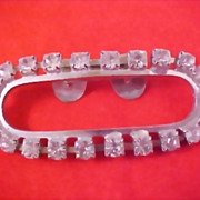 ART DECO CIRCA 1930's Diamante Prong Set Purse - Evening Bag Clip