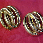 1950's RETRO Gold Plate Shoe Clips ~ 34.2 grams
