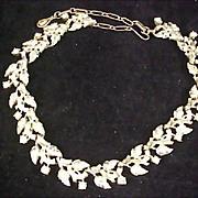 Old  ART DECO  - CORO  Rhinestone Link  Necklace