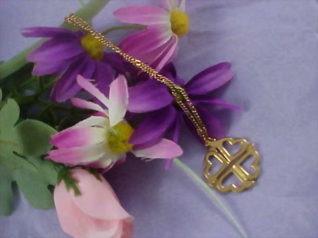 AVON - Four Hearts Gilt Gold  - Pendant & Chain Necklace