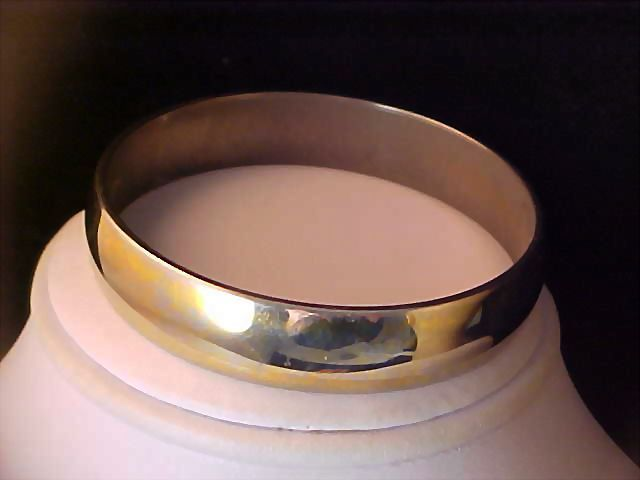 Exquisite Vintage Estate MONET Gold Plate BANGLE ~ 71 grams
