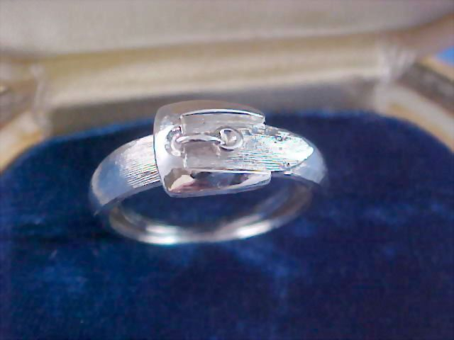 Avon's Classic Silver Rhodium Plate BUCKLE RING