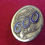 1/20 10 Gold Fill  600 CLUB - Bowling  BROOCH - Lovely Piece