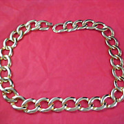 ART DECO Gold Plate Link Necklace