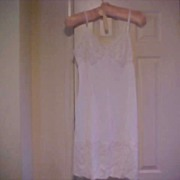 Vanity Fair 1950's White Nylon Whole Slip - Size 38-Vintage