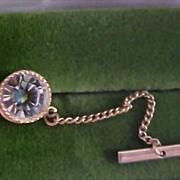 Massive WATERMELON Cubic Zirconia Gilt Gold Tie Tac