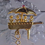 Flower Cart Watch Pin - Trademarked LIA