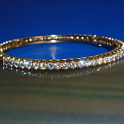 A DIAMOND BANGLE from a Royal European Collection
