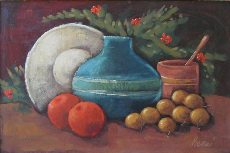 STILL LIFE * Oil on Panel * Signed Benci