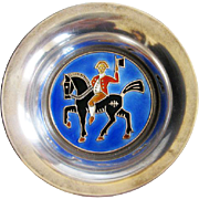 Vintage Sterling Enamel Norway O.F. Hjortdahl Pin Tray Open Salt Cellar