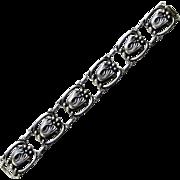 Vintage Walter Lampl Sterling Silver Bracelet Arts and Crafts Scandinavian Style