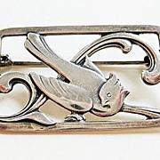 Vintage 830 Silver Denmark Eiler & Marloe Bird Brooch Arts & Crafts