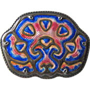 Sterling Enamel Norway Tostrup Brooch Pin Antique Arts and Crafts