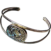 Bent Gabriel Pedersen for Age Fausing Sterling Denmark Bracelet with Abalone