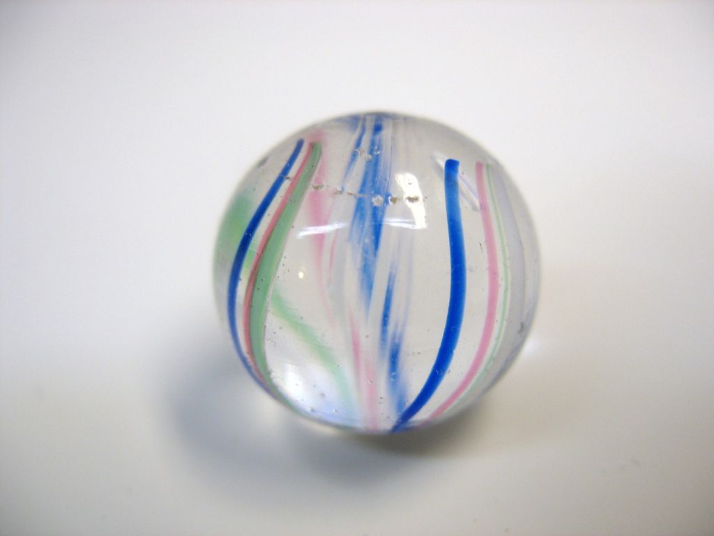 Antique German Hand Made Glass Marble End Of Day 3 4 From