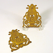 Original P.E Guerin gilt bronze Empire furniture hardware-Swans Lyres
