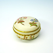 Antique Royal Worcester covered dresser jar box