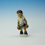 Dahl Jensen porcelain figure- boy with boxing gloves
