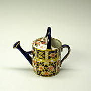Vintage Royal Crown Derby porcelain miniature watering can
