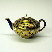Royal Crown Derby porcelain Imari miniature teapot