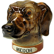 Big St Clements French pottery Dog head cigar holder