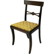 Doll sized salesman's sample chair with cover