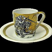 VA Portugal gilded scenic demi tasse cup & saucer #3