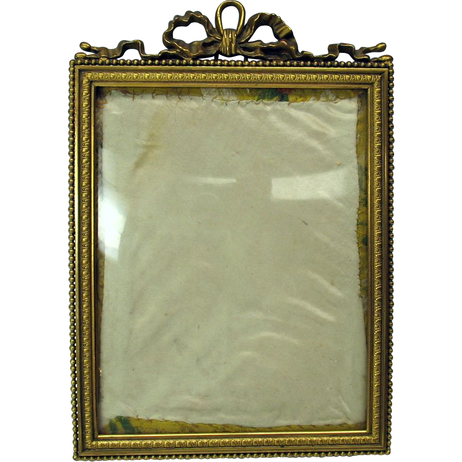 antique hanging bronze portrait frame convex glass