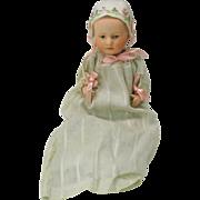 "Rare 7"" Heubach Baby Stuart bisque head doll"