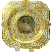 Royal Doulton portrait cabinet plate by Leslie Johnson