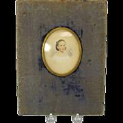 American 19th C. child memorial portrait  ALICE MAY PARKER