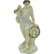 Early porcelain figure Zodiac Angel  LIBRA