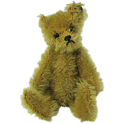 Early Stieff miniature Teddy bear trailing F button