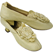 Historic 18th C Ladies kid shoes-Col Galpin Revolutionary War